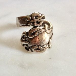 Silver Tone Spoon Ring